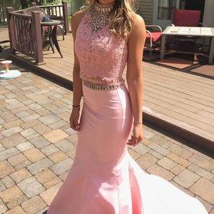 Two Piece Blush Sherri Hill Prom Dress